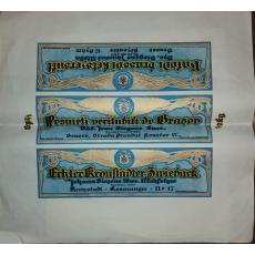 PESMETI VERITABILI DE BRASOV, ambalaj original, litografie