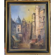 "Tablou, Nicolae Ambrozie, "" Venetie "" , u/p/c"