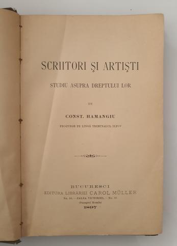 CONSTANTIN HAMANGIU ( Dedicatie si autograf! )