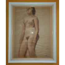 Tablou, Catul Bogdan, Nud in picioare , acuarela / hartie