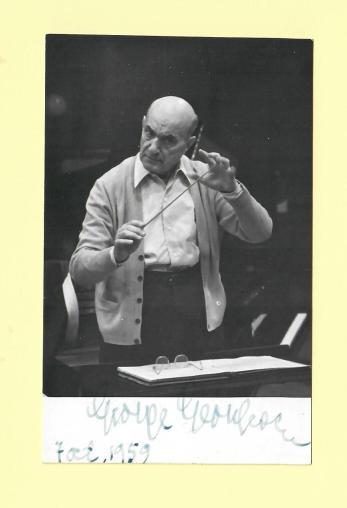 George Georgescu, Fotografie originala, autograf, 1959