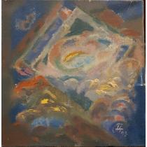 "Tablou, Tomas Hirth, "" Visul "" , ulei / panza, 1993"