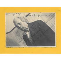 Enrico de Franceschi bariton la Scala din Milano, foto / autograf, 1938