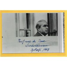 Foto Dan Smantanescu, dedicatie, 1969