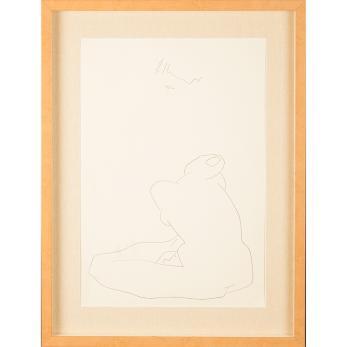 Tablou, Henry Mavrodin , NUD II , litografie, 1978