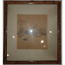 """TABLOU, STOICA D. ( DUMITRESCU ) , """" Urmariele razboilui """" , 1916"""