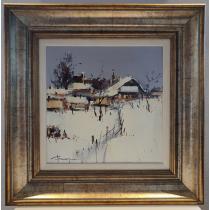 Tablou, Corneliu Dragan Targoviste, Peisaj de iarna, u/p, 2012