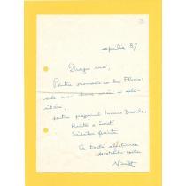 Nicu Steinhardt corespondenta cu Florin Albulescu, 1987
