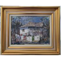 Tablou, Vitalie Butescu, Casa taraneasca, u/p/c