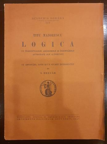 Titu Maiorescu ( editie ingrijita de I. Brucar - dedicatie ! )