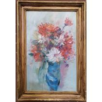 Tablou, Margareta Sterian, Vas cu crizanteme, u/p