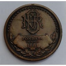 Medalie Banca Nationala a Romaniei Fondata in Anul 1881