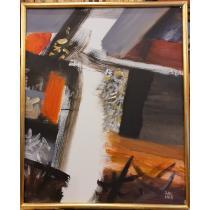 "Tablou, Ion Salisteanu, "" Sete de lumina "" , acril/panza"
