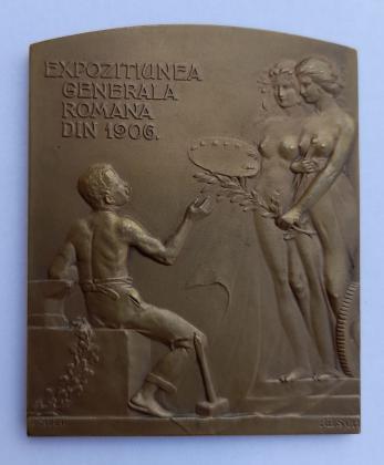 Placheta Regele Carol Expozitiunea Generala din Romania 1906
