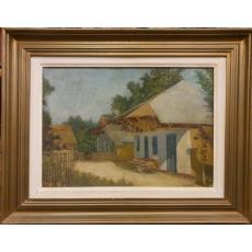 "Tablou, Mihail Marinescu Valsan, "" Casa taraneasca "" , u/c"