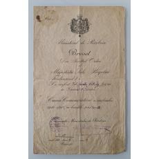 Brevet, Serviciul Credincios, Regele Carol al II-lea, 1935
