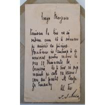 Scrisoare originala, I. G. Duca catre George Marzescu