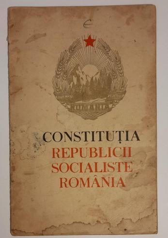CONSTITUTIA REPUBLICII SOCIALISTE ROMANIA 1965