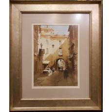 "Tablou, Corneliu Dragan - Targoviste, "" Strada din Bari / Italia "" , 2015"
