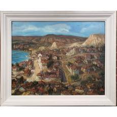 Tablou, Nicolcea Spineni, Peisaj din Balcic