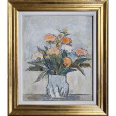 Tablou, Traian Bradean, Vas cu flori, u/p