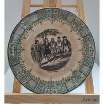 Farfurie, ceramica glazurata, Ronde Valaques, Digoin and Sarreguemines, Franta