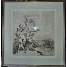 Tablou, Marcel Chirnoagă, Dans erotic, acvaforte