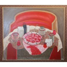 Tablou, Constantin Pacea, Masa cu fructe, u/p, 1981