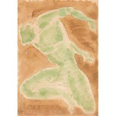 Tablou, Marcel Guguianu, Nud - studiu, acuarela