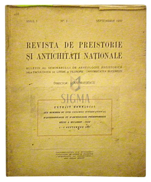 Revista de preistorie si antichitati nationale (anul 1, nr. 1.)