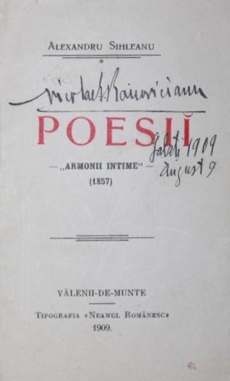 POESII ARMONII INTIME 1857
