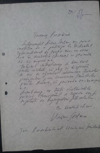 MARIN SORESCU document olograf UNIUNEA SCRIITORILOR