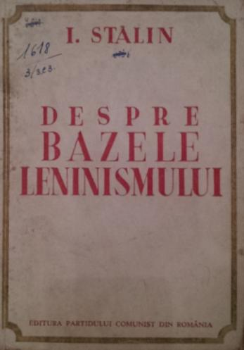 DESPRE BAZELE LENINISMULUI